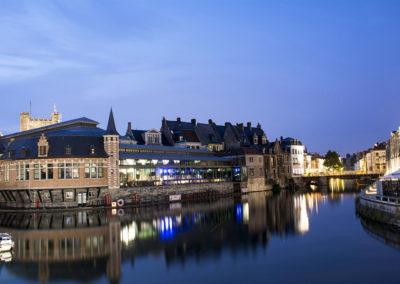 Anochecer en Gante